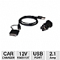Alternate view 1 for Bracketron Universal USB Car Charger Kit