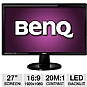 "Alternate view 1 for BenQ 27"" Wide 1080p LED, Speakers, DVI, HDMI"