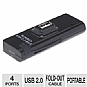 Alternate view 1 for Inland 4 Port Mini USB 2.0 Hub