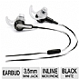 Bose� MIE2 Mobile Headset (326223-0020) - StayHear�, Omnidirectional Inline Microphone, Answer/End Button, Angled 3.5mm Plug, Two 2.5mm Adapters, Protective Carrying Case