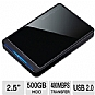 Alternate view 1 for Buffalo MiniStation Stealth 500GB Hard Drive