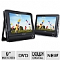"Alternate view 1 for COBY TFDVD9952 9"" Dual Screen Portable DVD Player"