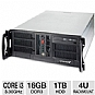 Alternate view 1 for CybertronPC Quantum Core i3 4U Rackmount Server