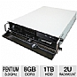 Alternate view 1 for CybertronPC Quantum Pentium 2U Rackmount Server