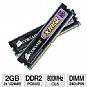 More Info on Corsair XMS2 TWIN2X2048-6400 2GB Dual Channel Memory Module - PC6400, DDR2, 800MHz, DIMM