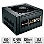 Alternate view 1 for Corsair AX650 Modular 80 Plus Gold 650W PSU