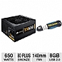 Corsair Enthusiast Series TX650 V2 650W 80+ Bundle