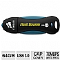 Alternate view 1 for Corsair Flash Voyager 64GB USB Flash Drive 