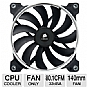 Alternate view 1 for Corsair  AF140 Quiet Edition High Airflow Fan