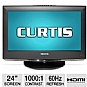 "Alternate view 1 for Curtis LCD2425A 24"" 1080p 60Hz LCD HDTV"