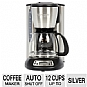 Waring Pro CMS120 Coffee Maker - 12-Cup Glass Carage, Auto Shut-off, Silver