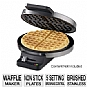 Cuisinart Round Classic Waffle Maker - Brushed Stainless, 5-Setting Browning Control, Non-Stick Plates, Refurbished - WMR-CAFR