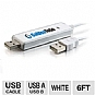 Cables to Go 39987 USB Driverless Transfer Cable - 6ft, USB 2.0, White