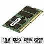 Crucial CT12864AC800 1GB Laptop Memory Module -  PC6400, DDR2, 800MHz, SODIMM 