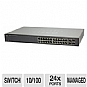 Cisco SLM224PTNA Small Business SF200-24P Managed PoE Switch - 24x 10/100 Ports, 12x 10/100 PoE Ports, 2x 10/100/1000, 2x Combo mini-GBIC