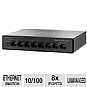 Alternate view 1 for Cisco 8-Port 10/100 PoE Desktop Switch