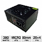 Alternate view 1 for Diablotek PHD380M 380-Watt MATX Power Supply