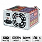 Alternate view 1 for Diablotek PSDA600 DA Series 600W ATX Power Supply