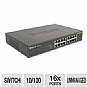 D-Link - DSS-16+ - 16-Port 10/100 Network Switch