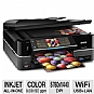 "Epson Artisan 835 Wireless All-in-One Color Inkjet Printer w/ Duplex (2-sided) - 5760 x 1440 dpi, PictBridge, Ethernet, USB, 5-in-1, Copy, Scan, Fax, Photo, 30-page ADF, 3.5"" LCD Display"