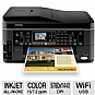 "Epson WorkForce 645 Wireless All-In-One Color Inkjet Printer - Copy, Scan, Fax, Duplex (2-sided printing), Borderless Prints, 2.5"" LCD Screen, AirPrint, Print from Mobile Device"