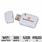 Hiro H50191 300Mbps Wireless-N USB Network Adapter - 300Mbps, Wireless-N, USB 2.0, Windows 8 Compatible