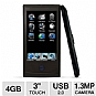 "Mach Speed TRIO-T3010 4GB MP4 Player - 4GB, 3.0"" Touchscreen, 1.3 Megapixel Camera, Digital Camcorder, Micro SD Card Slot, Digital Voice Recorder, USB 2.0"