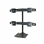 "Ergotron 33-324-200 DS100 Quad Monitor Desk Stand up to 24"" LCDs - Black (Refurbished)"