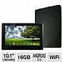 ASUS TF101A1 Eee Pad Transformer Android Tablet and rooCASE Dual View Leather Case  Bundle