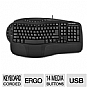 Alternate view 1 for GearHead KB4200NPU Ergonomic Multimedia Keyboard