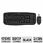 Alternate view 1 for GearHead Wireless Keyboard and Optical Nano Mouse