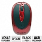 Gear Head MP2200RED Wireless Optical Mouse - Red/Black