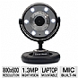 Alternate view 1 for Gear Head WC1300BLK Quick 1.3MP WebCam - Black