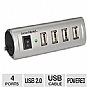 Alternate view 1 for Gear Head 4 Port Energy Saving USB 2.0 Hub
