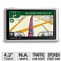 "Garmin 1350LMT Nuvi GPS - 4.3"" Touch Screen Display, Lifetime Traffic, Lifetime Maps, Voice Prompts, Lane Assist, ecoRoute, North American Maps (Refurbished)"