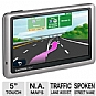 "Garmin n�vi 1450LMT 0100081027 Auto GPS - 5"" Touchscreen, MicroSD Card Slot, Spoken Street Name, Lane Assist, Custom POIs, Lifetime Traffic, Lifetime Maps"