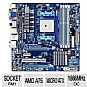 GIGABYTE GA-A75M-UD2H AMD A Series Motherboard - Micro ATX, Socket FM1, AMD A75 Chipset, 1866MHz DDR3, SATA 6.0 Gb/s, RAID, 7.1-CH Audio, Gigabit LAN, SuperSpeed USB 3.0, AMD Dual Graphics Ready