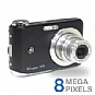 Alternate view 1 for GE A835 Digital Camera - 8 Megapixels, Black