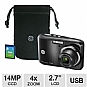 Alternate view 1 for GE T144-BKC Digital Camera Bundle