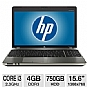 "Alternate view 1 for HP Probook 15.6"" Core i3 750GB HDD Blue-Ray Laptop"
