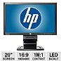 "Alternate view 1 for HP Compaq LA2006x 20"" Class Widescreen LED Monitor"