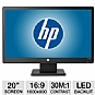 "Alternate view 1 for HP 20"" Wide 1600x900 LED Monitor, VGA"