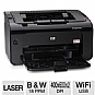 HP P1102w (CE657A) LaserJet Pro Wireless Black and White Printer - up to 19 ppm, up to 400 x 600 x 2 dpi, mobile printing (e-Print, AirPrint)