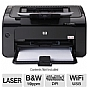 HP P1102w (CE658A) LaserJet Pro Wireless Black and White Printer - up to 19 ppm, up to 400 x 600 x 2 dpi, mobile printing (e-Print, AirPrint)