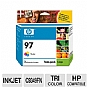 Alternate view 1 for HP 97 Tri-color Inkjet Print Cartridge Twin Pack