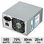 HEC HP585DR Orion Power Supply - 585W, Dual 80mm Fans, Single +12V Rail (Refurbished)