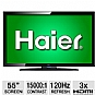 "Alternate view 1 for Haier L55B2181 55"" 1080p 120Hz LCD HDTV"