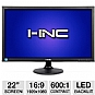 "Alternate view 1 for I-Inc 22"" Wide 1080p LED Monitor, VGA, DVI"