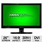 "Alternate view 1 for HannsG 26"" Wide 1080p LED, Speakers, VGA, DVI"