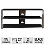 Alternate view 1 for Cravin TDUCP48 Wood Glass HDTV Stand